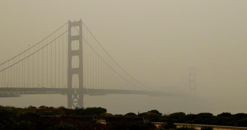 California Wildfire Smoke Obscures San Francisco, 10 September 2020. © George Nikitin / Greenpeace