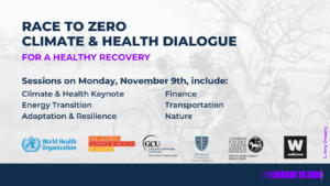 Global Climate and Health Event to Put Health and Equity at Center of Ambitious Climate Action