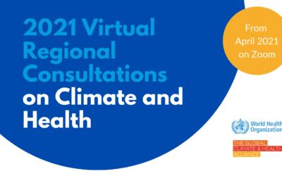 Consultas Regionales sobre Cambio Climático y Salud