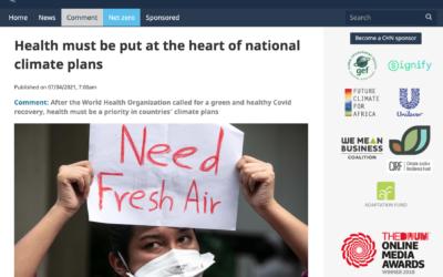 La salud debe ser parte integral de la política climática