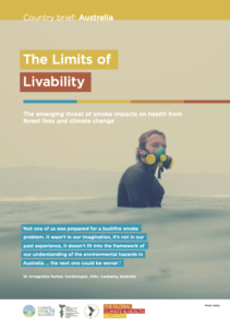 Country brief: Australia - The Limits of Livability - The emerging threat of smoke impacts on health from forest fires and climate change