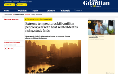 The Guardian: Extreme temperatures kill 5 million people a year with heat-related deaths rising, study finds