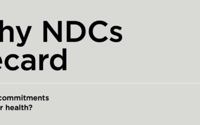 NDC Saludables: Tarjetas de puntuación exponen brechas de salud en las políticas climáticas nacionales a pocos meses de COP26
